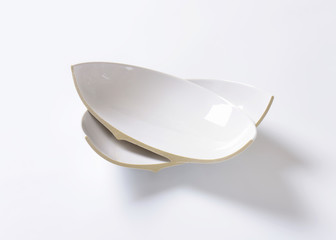 Broken ceramic bowl