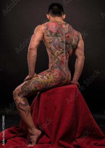 Korean model with tattoo - 73834480
