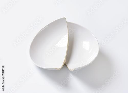 Broken ceramic bowl - 73834481