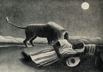 The Sleeping Gypsy (Henri Rousseau, 1897)