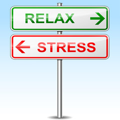 stress and relax directional signs