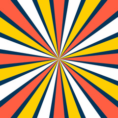 Burst vector background in retro style.