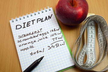Planning of a diet.