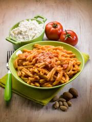 casarecce with ricotta ad almond sicily recipe
