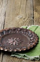 Old vintage copper plate
