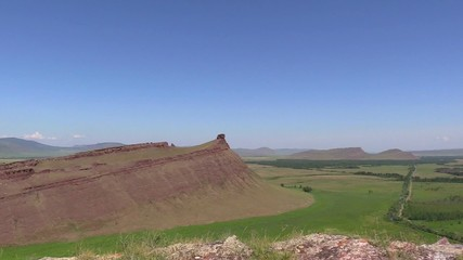 "Republic Khakassia. Ridge ""chests"". Panorama"