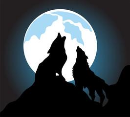 Wolves howl background