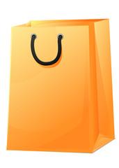 Sac shopping jaune