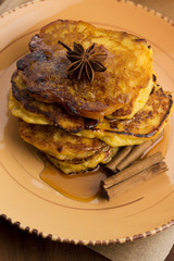 Pumpkin Fritters with cinnamon