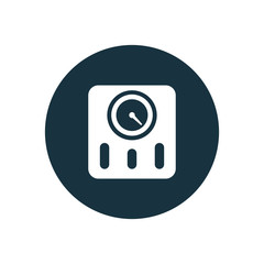 fitness scales icon
