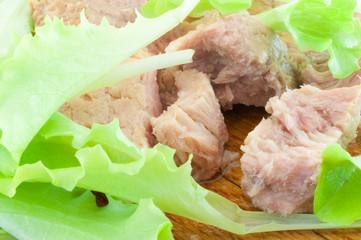 tunny and salad