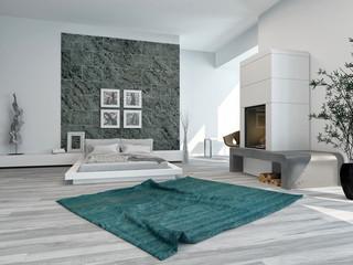 Stylish modern bedroom interior