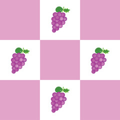 Abstract geometric retro seamless grapes background.