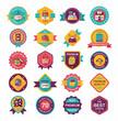 shopping badge flat design background set, eps10