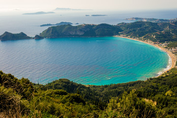 Agios Georgios bay at Corfu island Greece