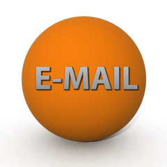 E-mail circular icon on white background