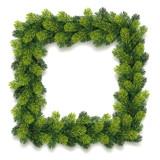 Fototapety Detailed Christmas Wreath Card