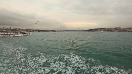 Crossing Bosphorus on Ferry Boat