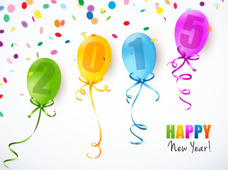 Bunte Luftballons mit Konfetti 2015
