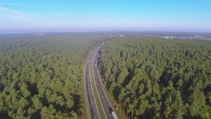 highway from height of bird's flight. Aerial