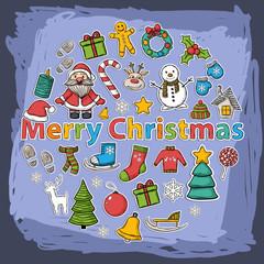 Vector Christmas  icons  set