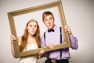 witziges Brautpaar