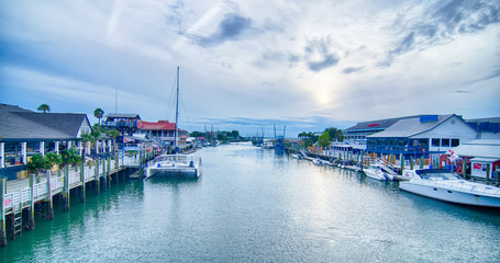 view of shem creek from coleman blvd charleston south carolina