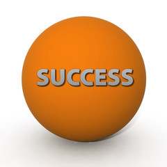 Success circular icon on white background