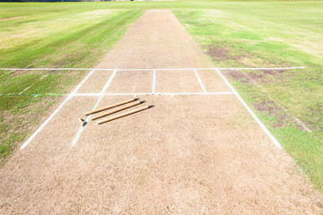 Cricket Wickets Field
