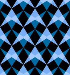 Vector seamless pattern with abstract shapes.