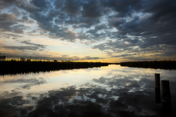 Neusiedlersee bei Rust Abendhimmel