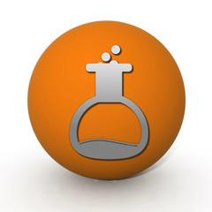 Chemist circular icon on white background