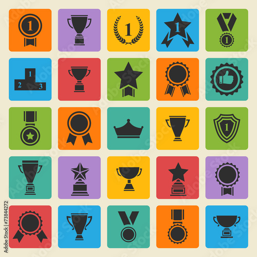 Big vector set black avards  icons - 73844272