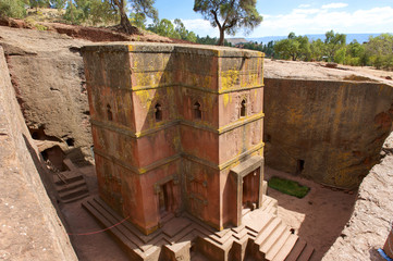 Unique rock-hewn Church of St. George, Lalibela, Ethiopia.