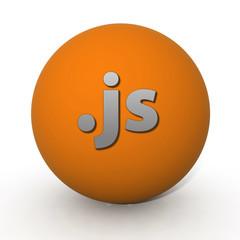 .cj circular icon on white background
