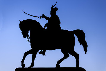 Ban Josip Jelacic and horse silhouette