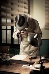 Spy agent stealing top secret data