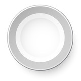 Simple plate. View from above.