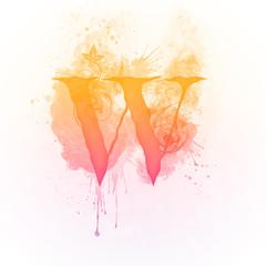 Sunny Swirl Letter W