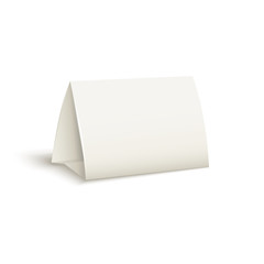 Vector realistic,3d table paper card