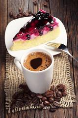Coffee and sweet cake