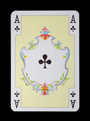 Spielkarten in Luxus und Nostalgie - Kreuz Ass