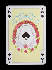 Spielkarten in Luxus und Nostalgie -Pik Ass