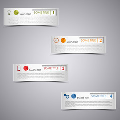 Info graphic rectangular dark design template