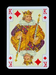 Spielkarten in Luxus und Nostalgie - Karo König