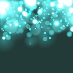 Turquoise bokeh background