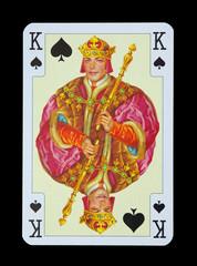 Spielkarten in Luxus und Nostalgie - Pik König