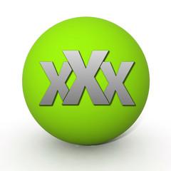 XXX circular icon on white background