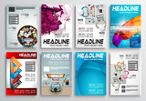 Fototapety Set of Flyer Design, Infographic layout. Brochure Designs