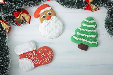 Natale dolci di cannella colorati